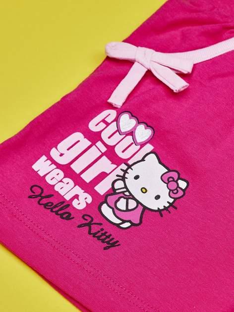Fuksjowe szorty dla dziewczynki nadruk HELLO KITTY                                  zdj.                                  4