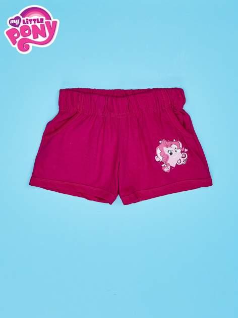 Fuksjowe szorty dla dziewczynki z różowym nadrukiem MY LITTLE PONY                                  zdj.                                  1