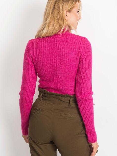 Fuksjowy sweter Milo                              zdj.                              2