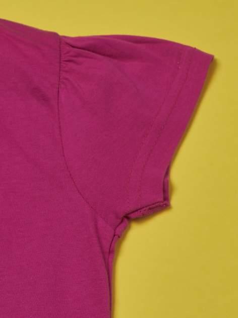 Fuksjowy t-shirt dla dziewczynki HELLO KITTY                                  zdj.                                  3