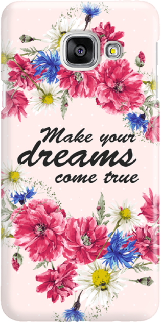 Funny Case ETUI SAMSUNG A3 2016 DREAMS FLOWERS