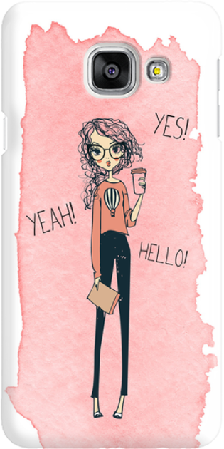 Funny Case ETUI SAMSUNG A3 2016 YES, YEAH, HELLO