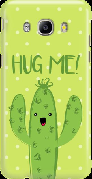 Funny Case ETUI SAMSUNG J5 2016 CACTUS HUG ME