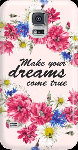 Funny Case ETUI SAMSUNG S5 DREAMS FLOWERS