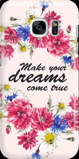 Funny Case ETUI SAMSUNG S7 DREAMS FLOWERS