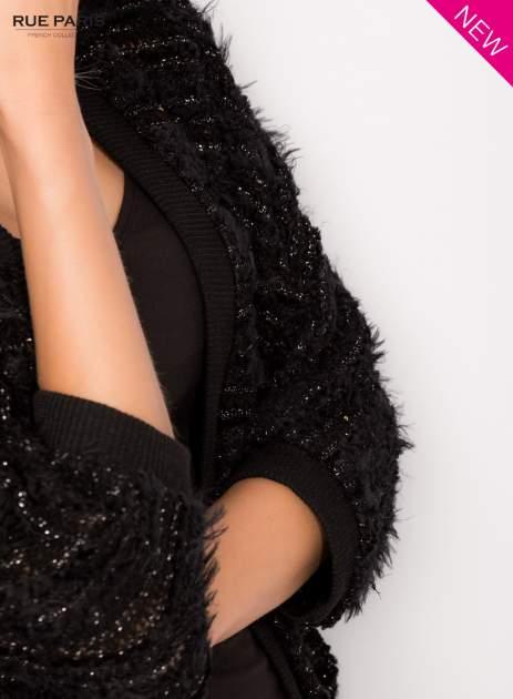 Futrzany sweter nietoperz przeplatany błyszczącą nicią                                  zdj.                                  6