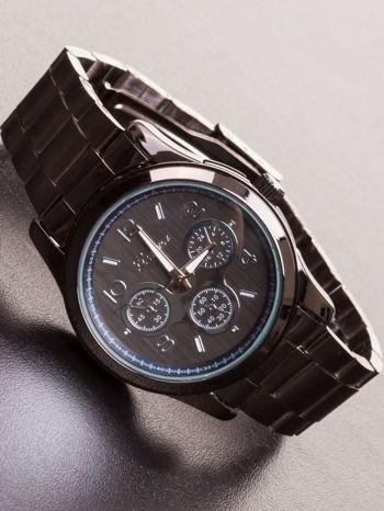 GENEVA Czarny zegarek damski na bransolecie