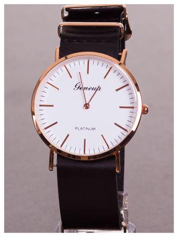 GENEVA Dla chłopczyka i dziewczynki. Zegarek unisex. Duża czytelna tarcza, regulowany skórzany pasek                                  zdj.                                  1