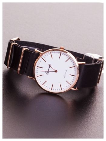 GENEVA Dla chłopczyka i dziewczynki. Zegarek unisex. Duża czytelna tarcza, regulowany skórzany pasek                                  zdj.                                  2