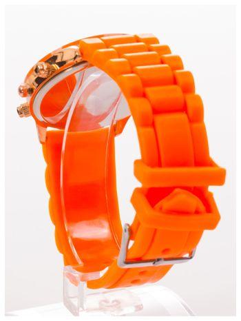 GENEVA Pomarańczowy zegarek damski na silikonowym pasku                                  zdj.                                  4