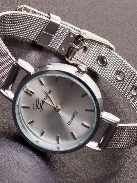 GENEVA Srebrny prosty zegarek damski na bransolecie