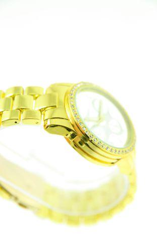 GENEVA Złoto-srebrny zegarek damski z cyrkoniami na bransolecie GENEVA                                  zdj.                                  2