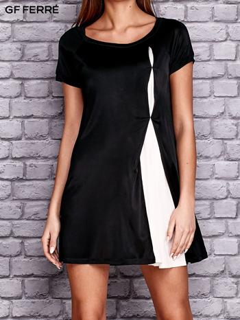 GF FERRE Czarna sukienka z kontrastową wstawką                                  zdj.                                  1