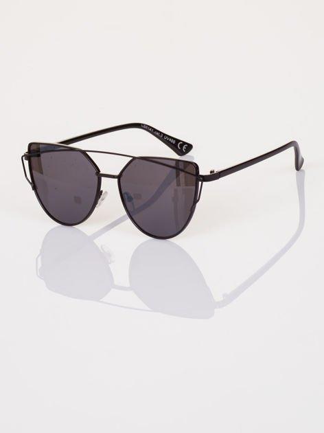GLAM ROCK czarne okulary przeciwsłoneczne CAT EYE HIT !