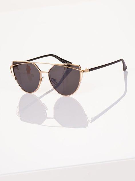GLAM ROCK złote okulary przeciwsłoneczne CAT EYE HIT !