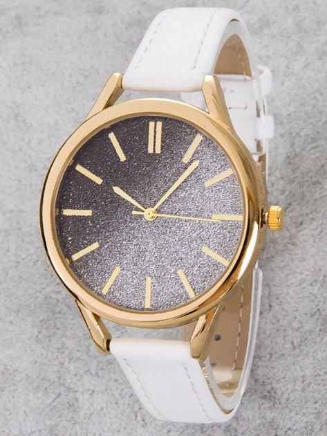 GLITTER OMBRE biały zegarek damski                              zdj.                              1