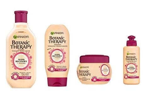 Garnier Botanic Therapy Szampon do włosów osłabionych i łamliwych Olejek Rycynowy i Migdał  250 ml                              zdj.                              2