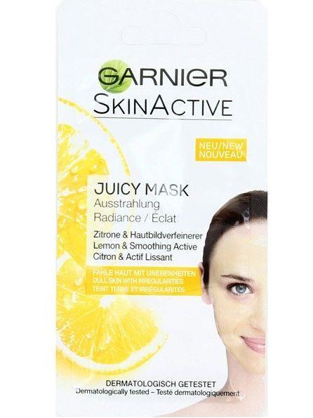 Garnier Skin Active Maska do twarzy z ekstraktem cytryny Juicy - cera z niedoskonałościami  8 ml