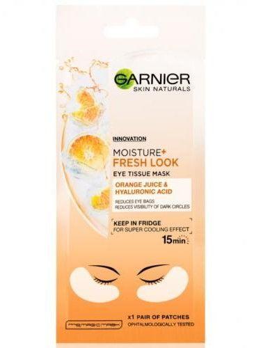 Garnier Skin Naturals Moisture+ Maska pod oczy Orange Juice & Hyaluronic Acid w płatkach  6 g