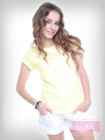 Gładki t-shirt                                  zdj.                                  1