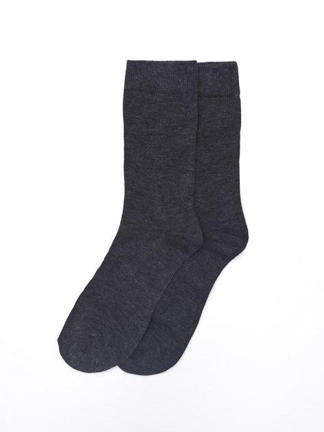 Gładkie bawełniane skarpety męskie 3-pak wielokolorowe                              zdj.                              2