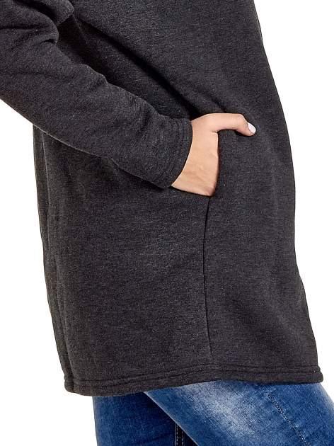 Grafitowa bluza dresowa z bocznym suwakiem                                  zdj.                                  8