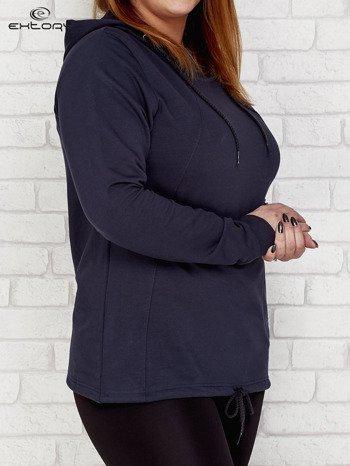 Grafitowa bluza oversize z kapturem PLUS SIZE                              zdj.                              3