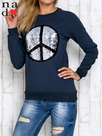 Grafitowa bluza z dwustronną naszywką z cekinów                                  zdj.                                  5