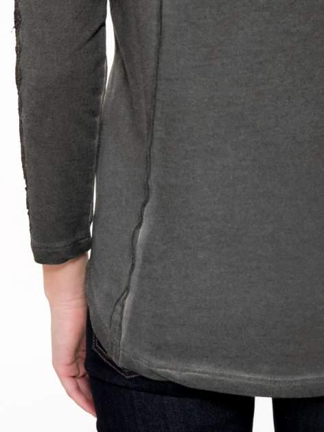 Grafitowa bluza z koronkowymi aplikacjami                                  zdj.                                  8