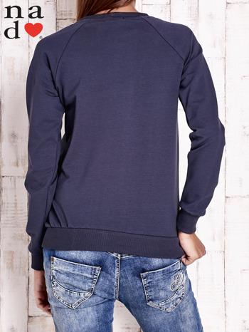 Grafitowa bluza z piórkiem                                  zdj.                                  4