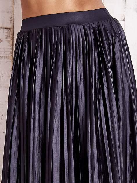 Grafitowa plisowana spódnica maxi                                  zdj.                                  5