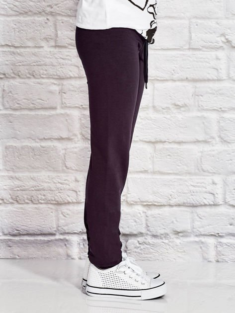 Grafitowe spodnie dresowe dla dziewczynki LITTLE UNICORN                              zdj.                              3