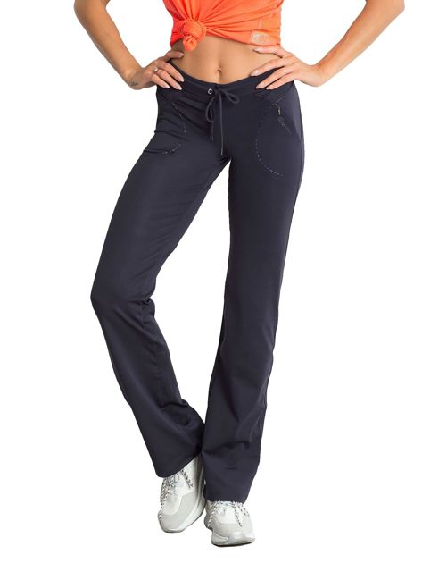 Grafitowe spodnie dresowe z wszytą kieszonką                                  zdj.                                  5