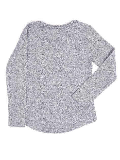 Granatowa bluza dla dziewczynki z literą                              zdj.                              5