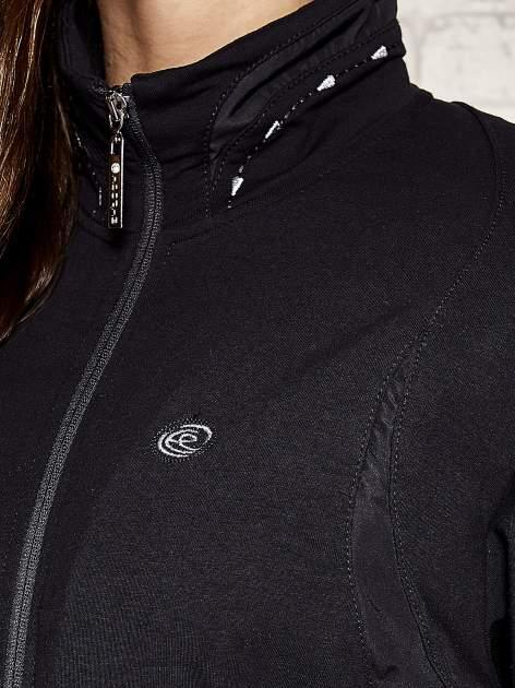 Granatowa bluza sportowa fitness ze wstawkami                                  zdj.                                  5