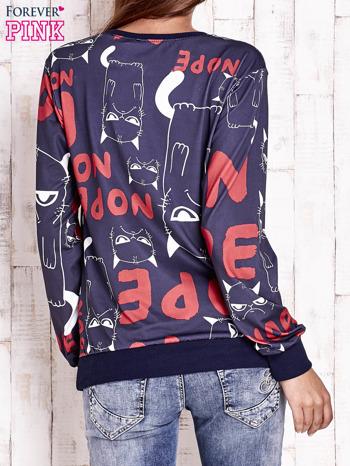Granatowa bluza z kocim motywem                                   zdj.                                  4