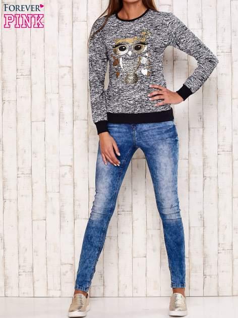 Granatowa bluza z motywem sowy                                  zdj.                                  2