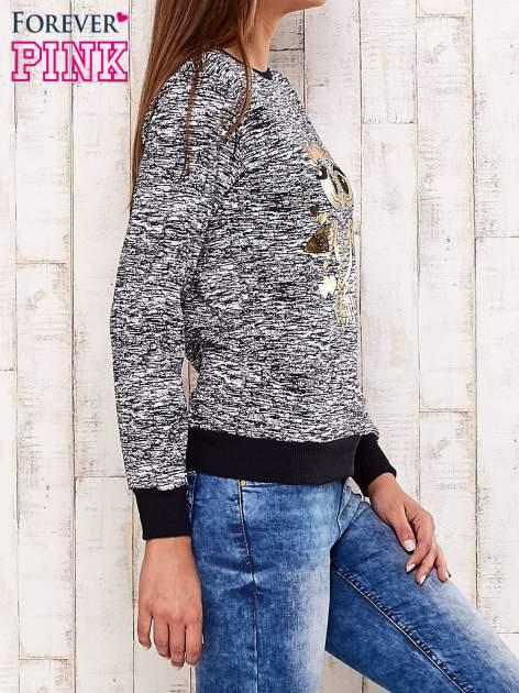Granatowa bluza z motywem sowy                                  zdj.                                  3