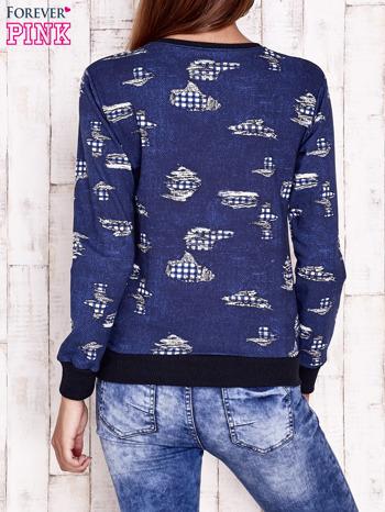 Granatowa bluza z napisem DANCE LIKE EVERYBODY'S WATCHING                                  zdj.                                  2