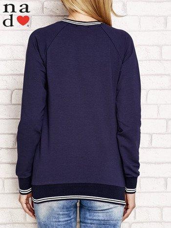 Granatowa bluza z napisem SIEMA                              zdj.                              2
