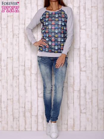 Granatowa bluza z sowami                                  zdj.                                  4