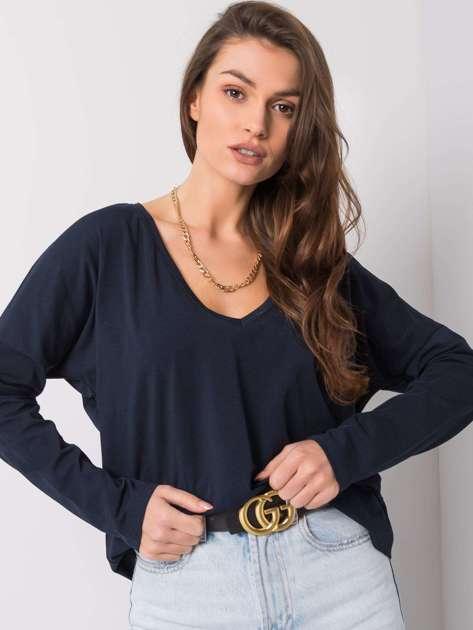 Granatowa bluzka Corinne RUE PARIS