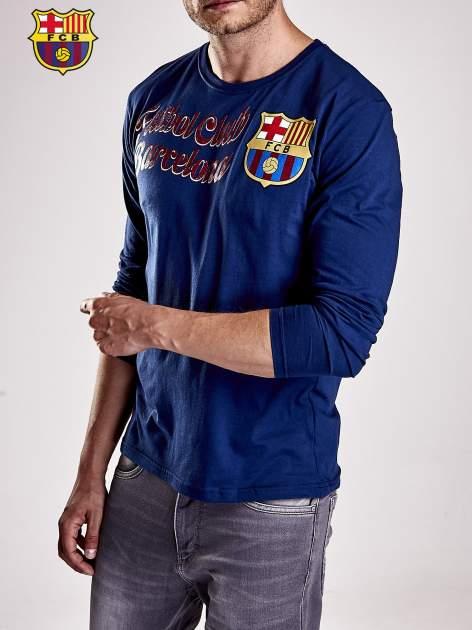 Granatowa bluzka męska FC BARCELONA                                  zdj.                                  7