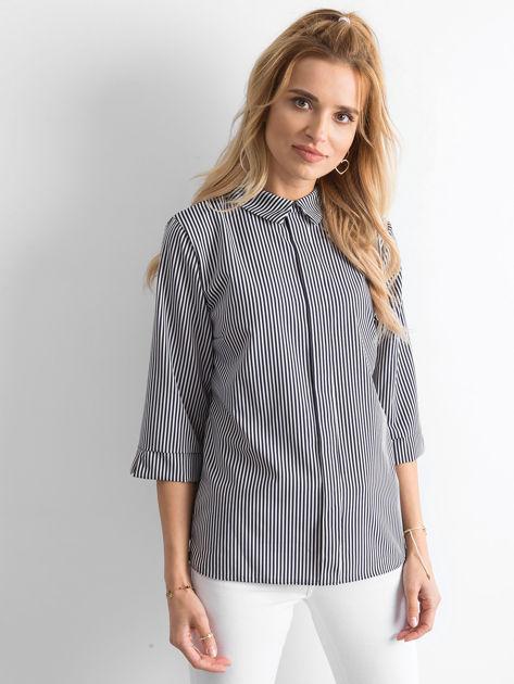 Granatowa bluzka w paski                              zdj.                              1