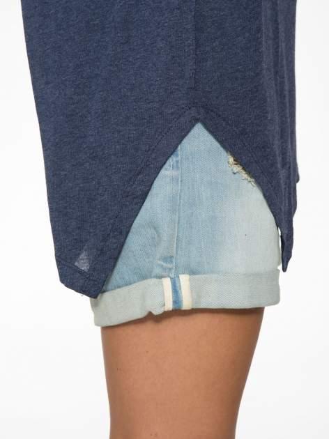Granatowa bluzka z asymetrycznym cięciem na dole                                  zdj.                                  11