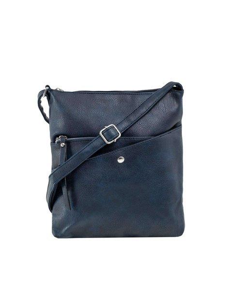Granatowa damska torba z kieszeniami