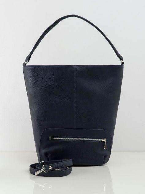 Granatowa duża torba shopper