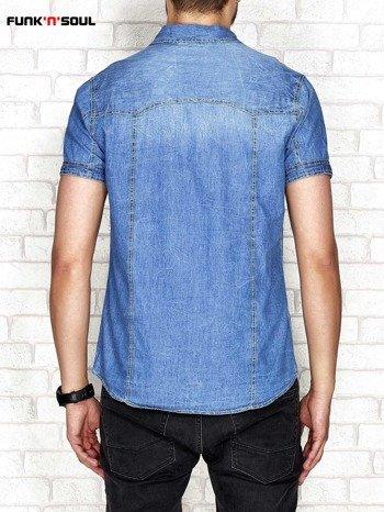 Granatowa jeansowa koszula męska FUNK N SOUL