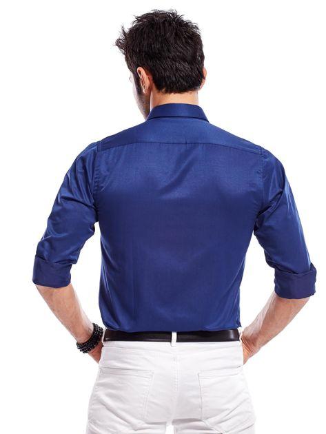 Granatowa koszula męska                               zdj.                              3