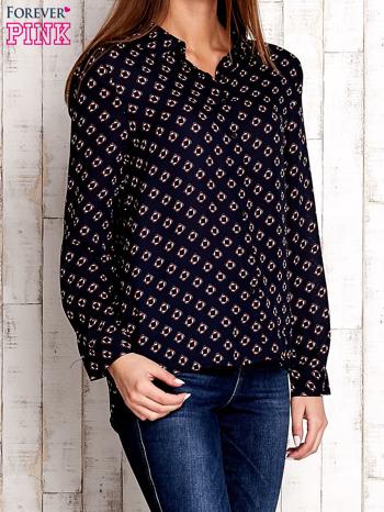 Granatowa koszula z morskim nadrukiem                                  zdj.                                  3